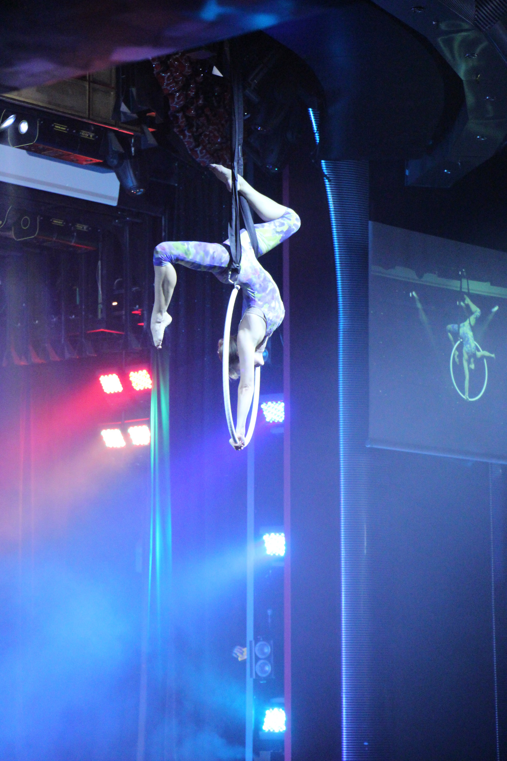 Aerialist on the ring