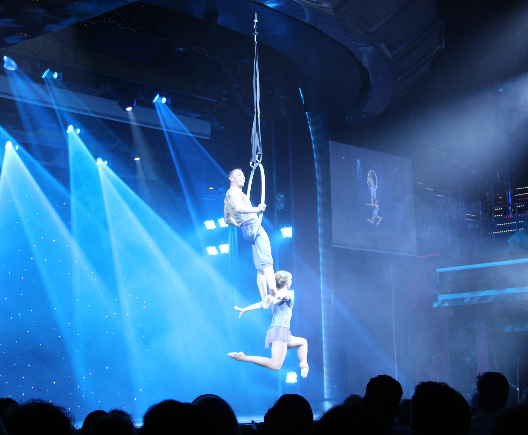 Aerial gymnasts on the hoop - Show You and Me