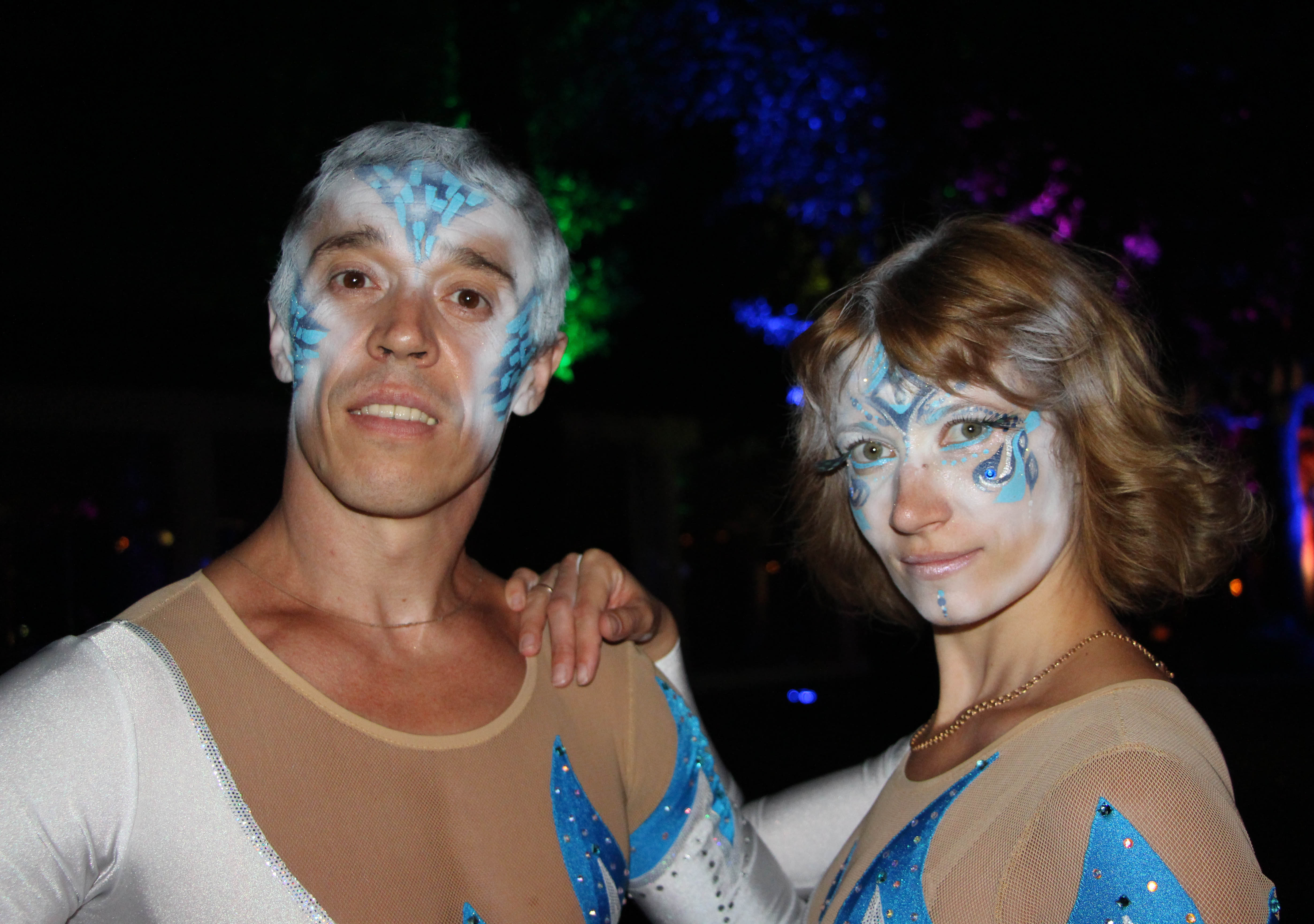 circus artists Aniskin on the event - make up