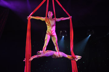 show Bollywood silks act