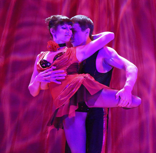 tango dance/acrobatic artists aniskin