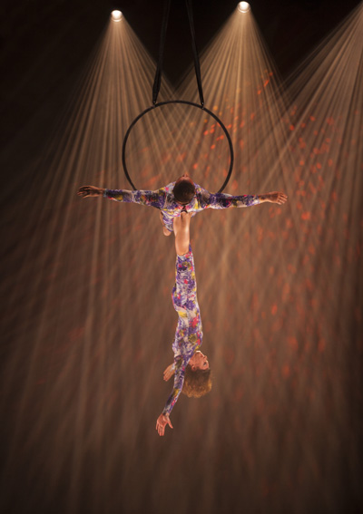 aerial gymnast in hoop