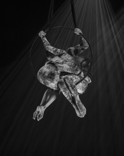 circus aerial duo in hoop
