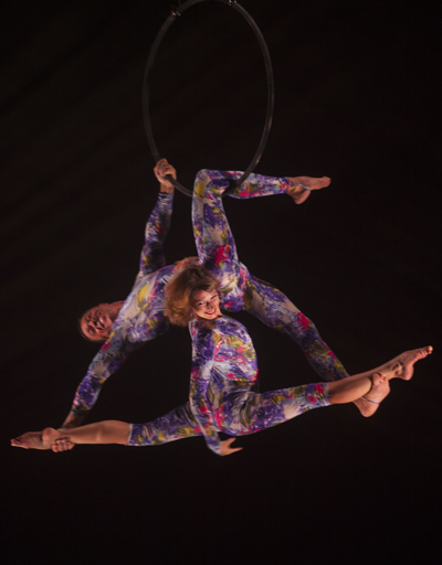 artists Aniskin on the aerial hoop