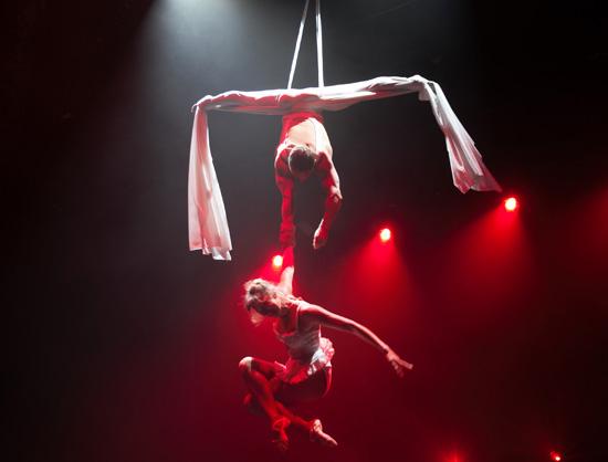 aerial flying silks